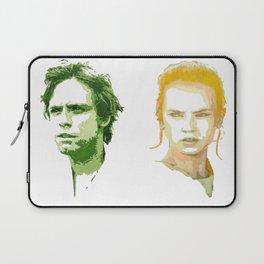 Luke Skywalker and Rey Laptop Sleeve