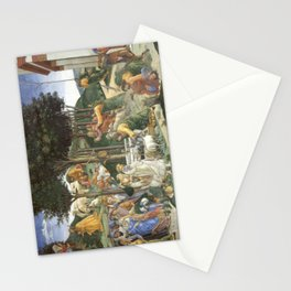Trials of Moses Painting by Botticelli - Sistine Chapel Stationery Cards