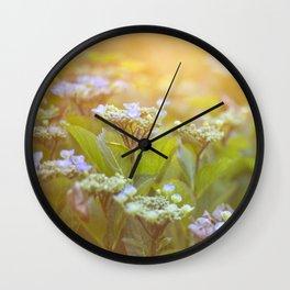 Sunset Hydrangea Wall Clock