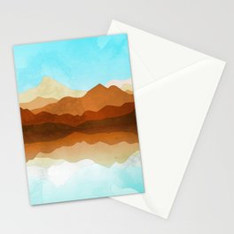 Western Sky Reflections In Watercolor Stationery Cards