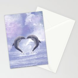 Dolphins Kisses Stationery Cards
