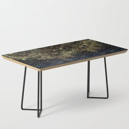 Stylish Gold floral mandala and confetti Coffee Table