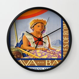 Vintage poster - Java and Bali Wall Clock