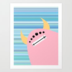 Pink Monster Art Print