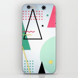 Abstract Christmas iPhone Skin