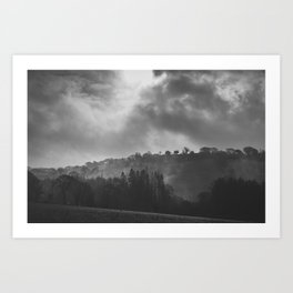 A Misty Morning In Cornwall Art Print