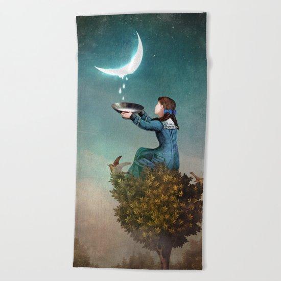 Moondrops Beach Towel