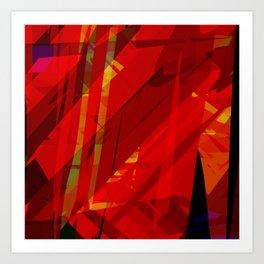 red spiky Art Print
