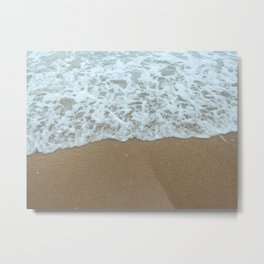Foamy Shore Metal Print