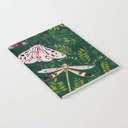 Moths and dragonfly Notebook