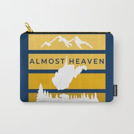 Almost Heaven West Virginia Retro Nature Print Carry-All Pouch