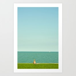 Sun Bathing in Color Art Print