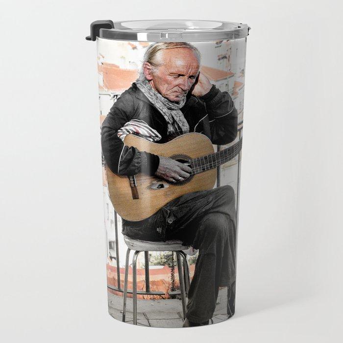 The guitarist, Lisbon, Portugal Travel Mug