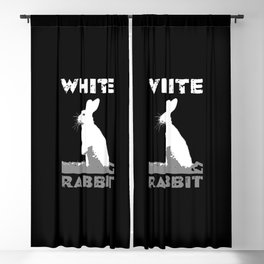 Abstract White Rabbit Blackout Curtain
