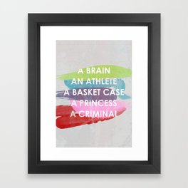 Sincerely yours, The Breakfast Club. Framed Art Print