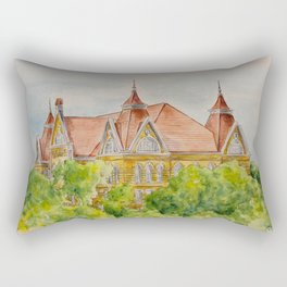 Texas State (SWT) University Old Main Building, San Marcos, TX Rectangular Pillow