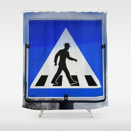Well Dressed Man Crossing Shower Curtain