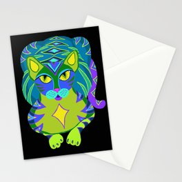 Peacock Tabby Noire Stationery Cards
