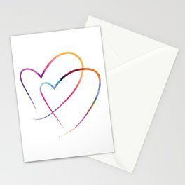 Two Hearts Stationery Cards