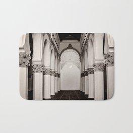 The Historic Arches in the Synagogue of Santa María la Blanca, Toledo Spain (4) Bath Mat