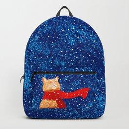 Tabby loves Snow... Backpack