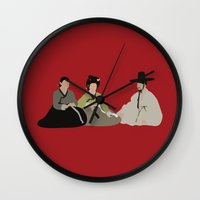 scandal Wall Clocks featuring untold scandal by Live It Up