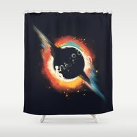 body Shower Curtains featuring Void (introversive ed) by Picomodi