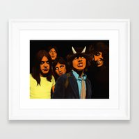 acdc Framed Art Prints featuring ACDC by DeeDoubleU