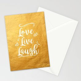 Love Live Laugh Stationery Cards