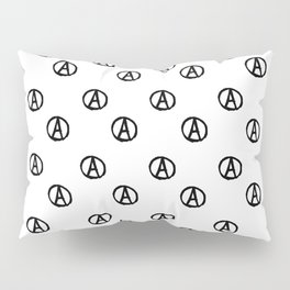 Symbol of anarchy bw 2 Pillow Sham