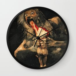 Saturn Devouring His Son Goya Painting Wall Clock