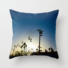 Sunset at the Boardwalk Throw Pillow