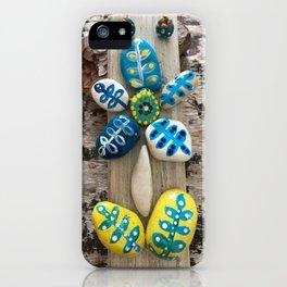 Yellow Rock Flower iPhone Case