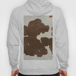 Dark Brown & White Cow Hide Hoody