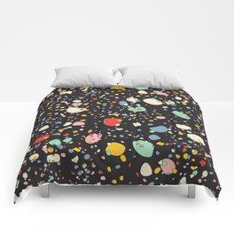 Modern Scandinavian Multi Colour Color Pebbles Black Comforters
