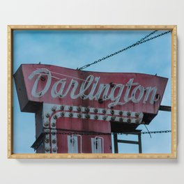 Darlington Baby Chicago Vintage Neon Sign Windy City Blade Marqee Serving Tray