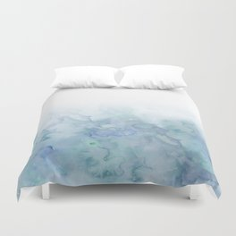Watercolor aqua sea Duvet Cover