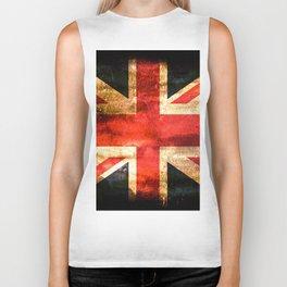 British UK Flag Grunge Vintage Biker Tank