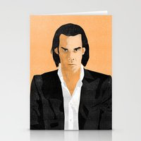 nick cave Stationery Cards featuring Nick Cave by Andy Rogerson