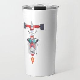 "Creative Drive - ""Typography motorcycle"" Travel Mug"