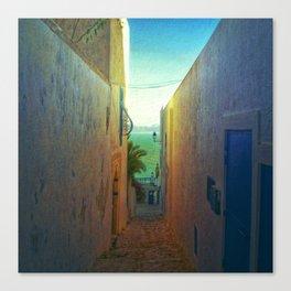Sidi Bou Said Laneway Canvas Print