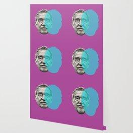 Gabriel Garcia Marquez - purple blue portrait Wallpaper