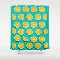 fruit Shower Curtains featuring fruit  by mark ashkenazi