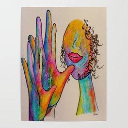 American Sign Language Grandmother Poster