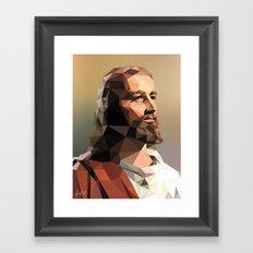 Jesus Christ – Polygon Framed Art Print