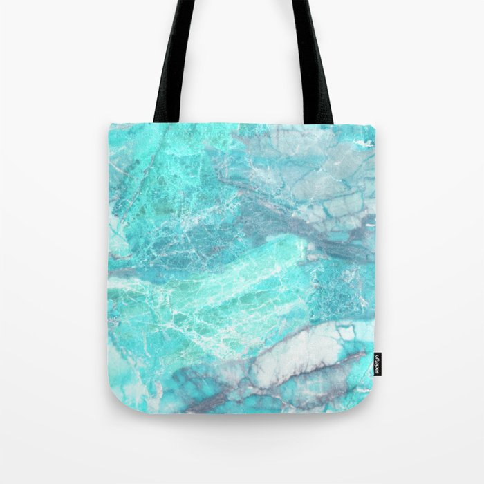 Marble Turquoise Blue Agate Tote Bag