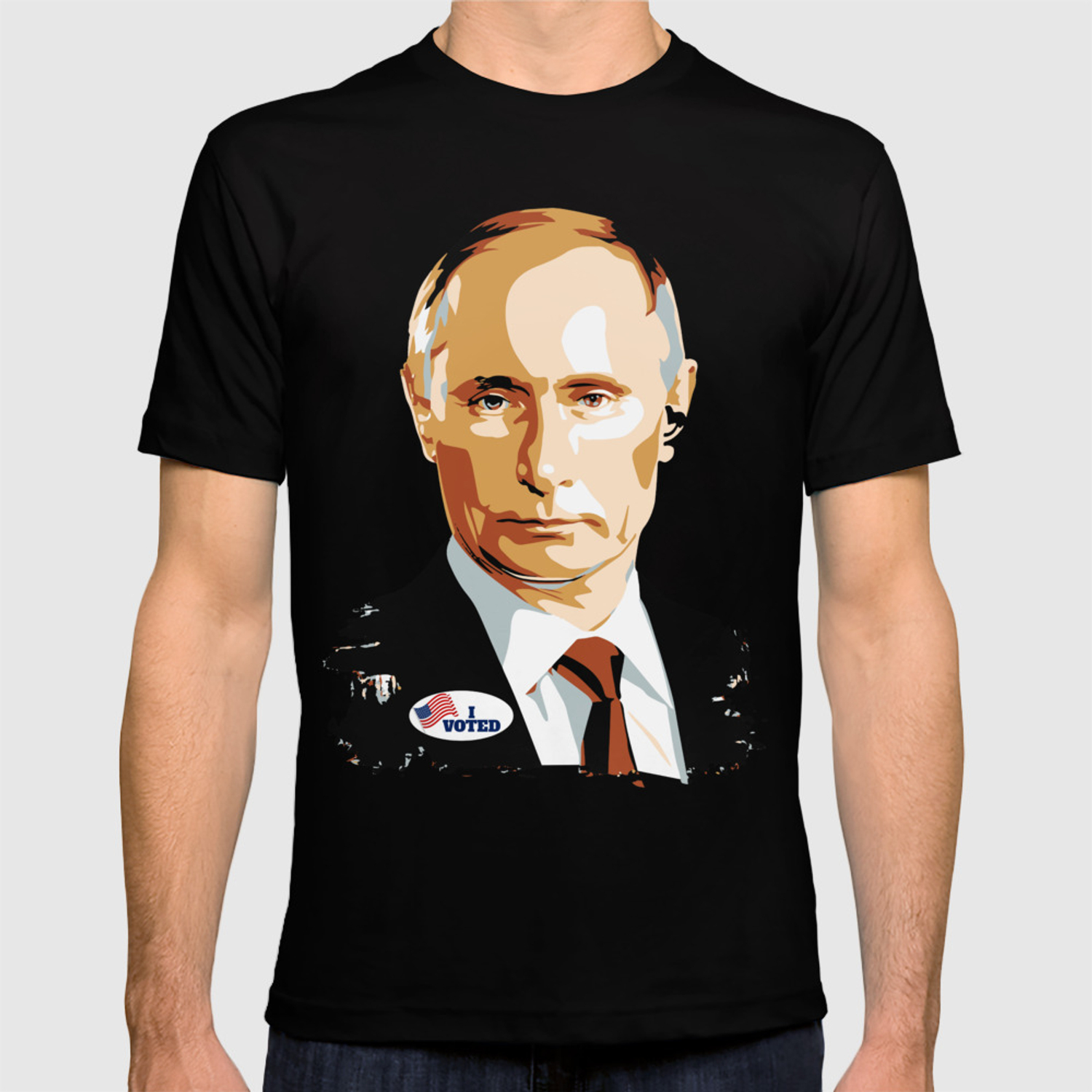 I Voted Vladimir Putin With Usa I Voted Sticker Graphic T Shirt By Zippythread Society6
