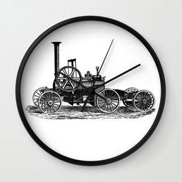 Steam car Wall Clock