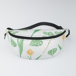 Tulips Floral Pattern Fanny Pack