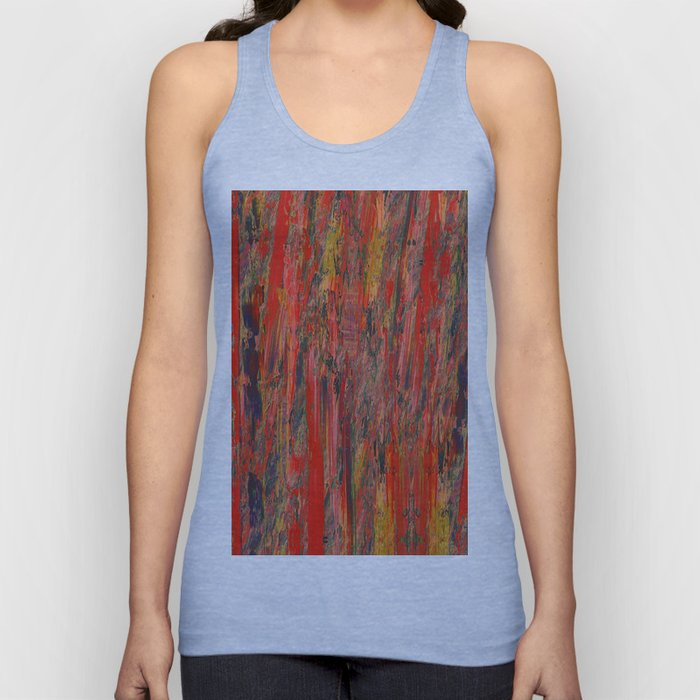 lines of red yellow Unisex Tank Top
